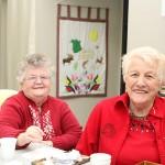 Women's Institute members Viola Brophy and Joan Underhill